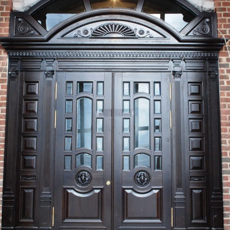 wood and metal front doors
