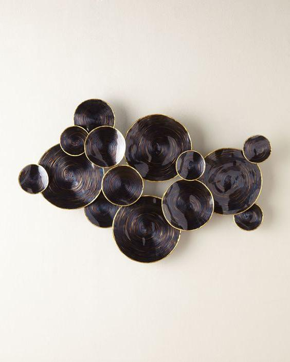 3D metal plates wall art ideas