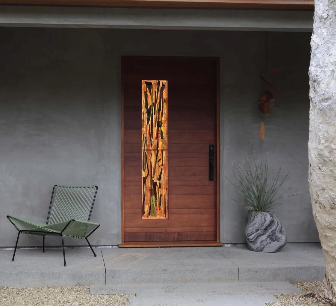 Art Nouveau entrance door decor