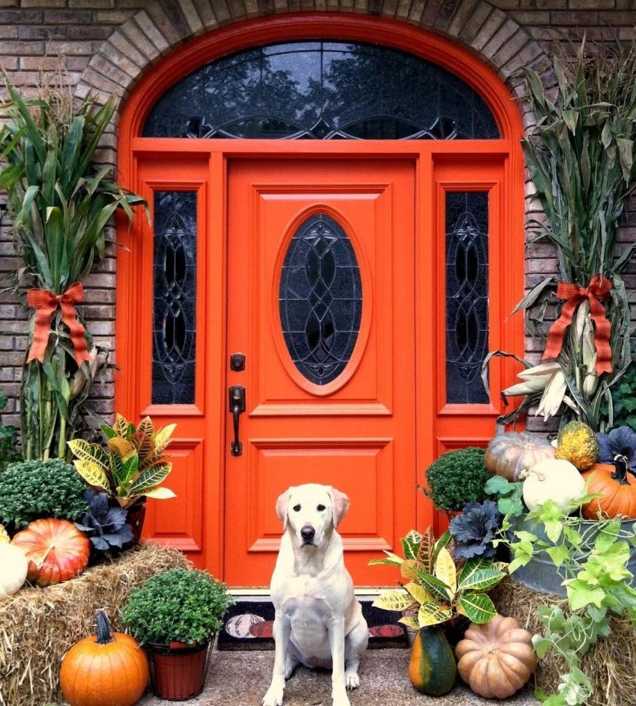 Autumn Entrance door decor