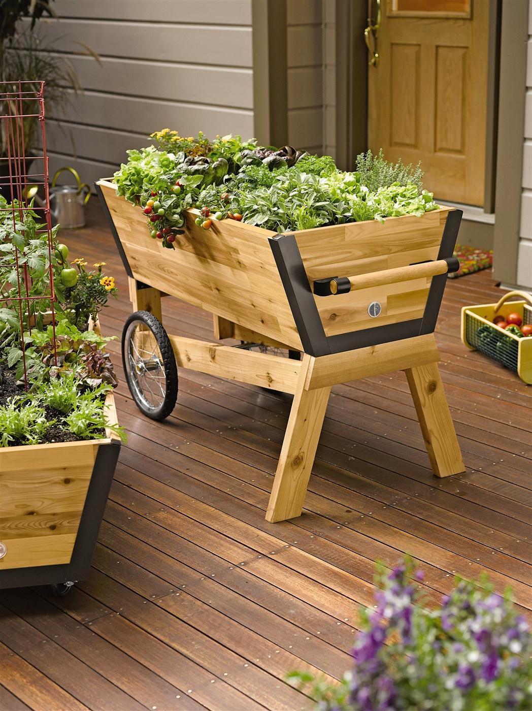 Cart Wooden Plant Ideas