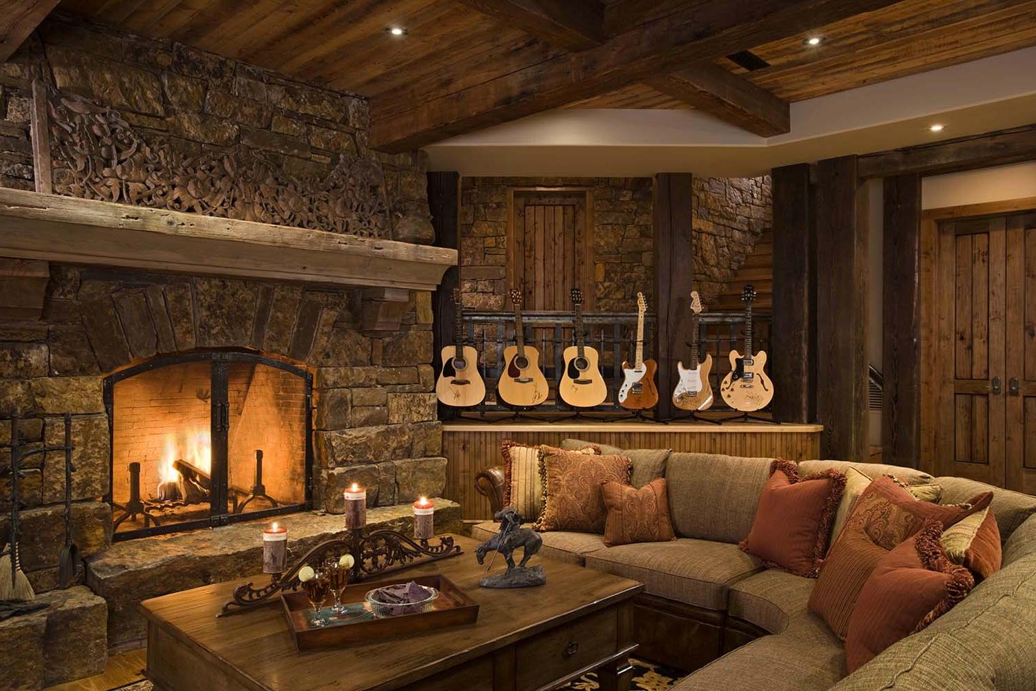 Cozy rustic living room furniture