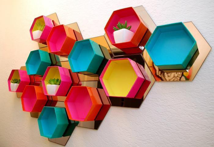 Hexagon Wall Shelving Ideas