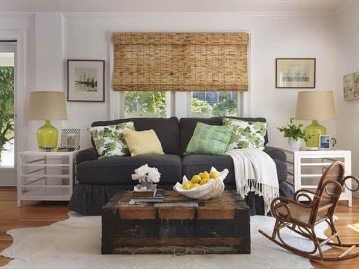 Inexpensive rustic furniture for living area