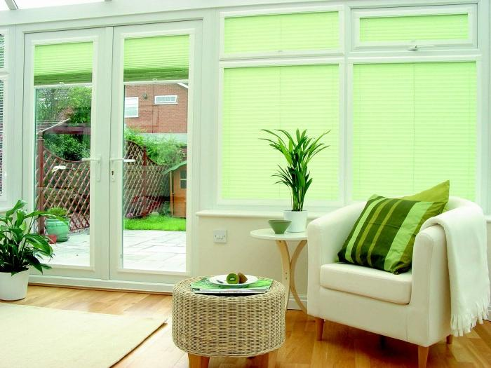 Light Green Wooden Blinds