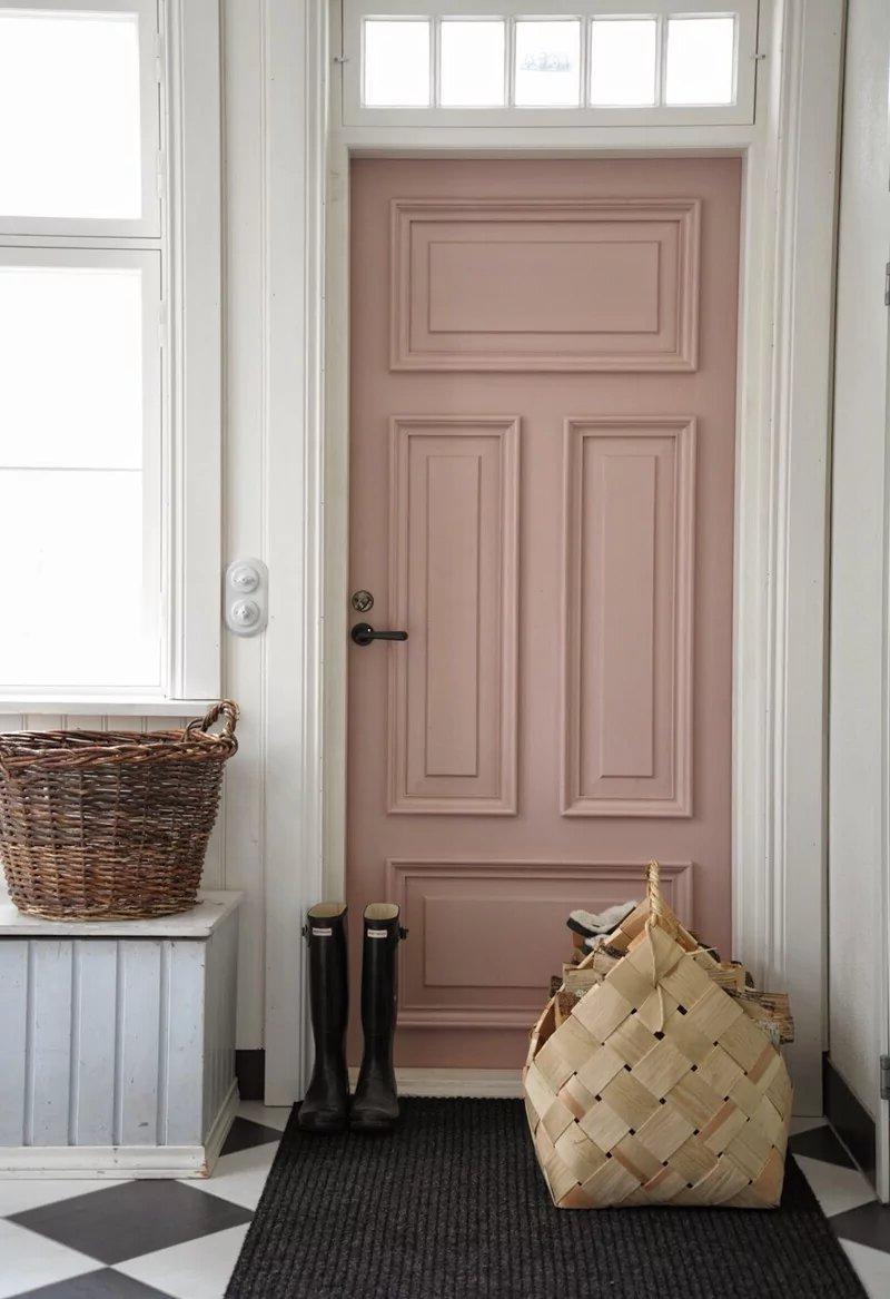 Scandinavian style front door decor