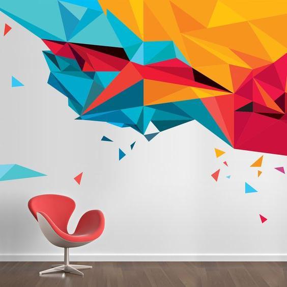 abstract and geometric pattern wallart