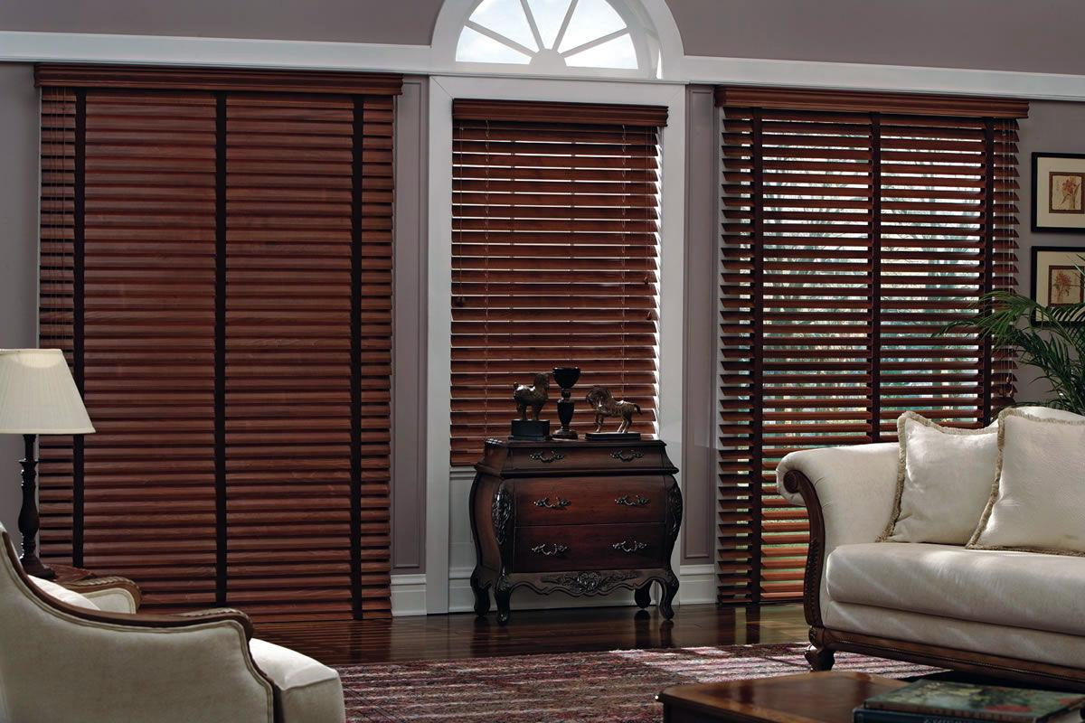 antique style wooden blinds