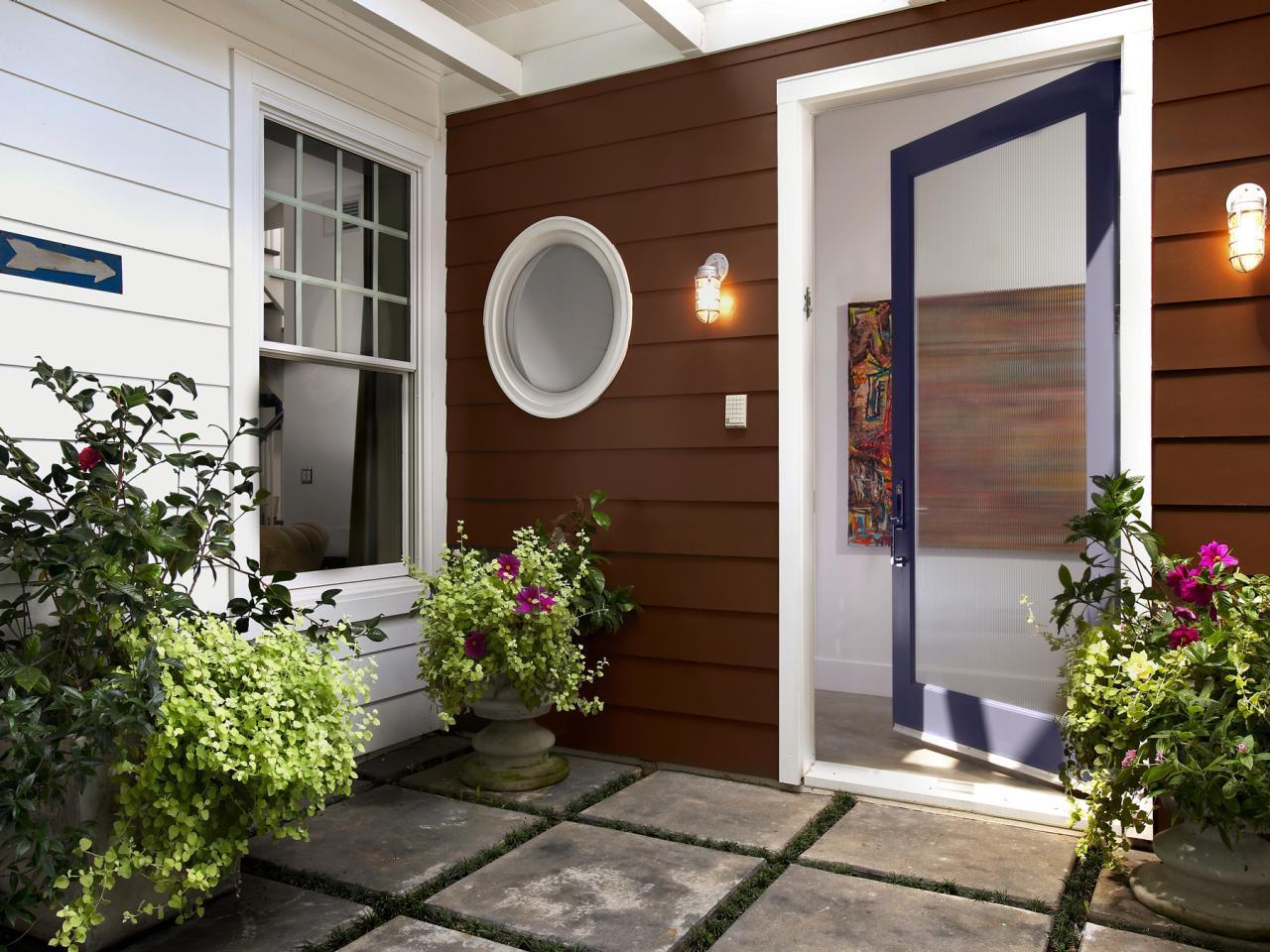 front door decor with glass