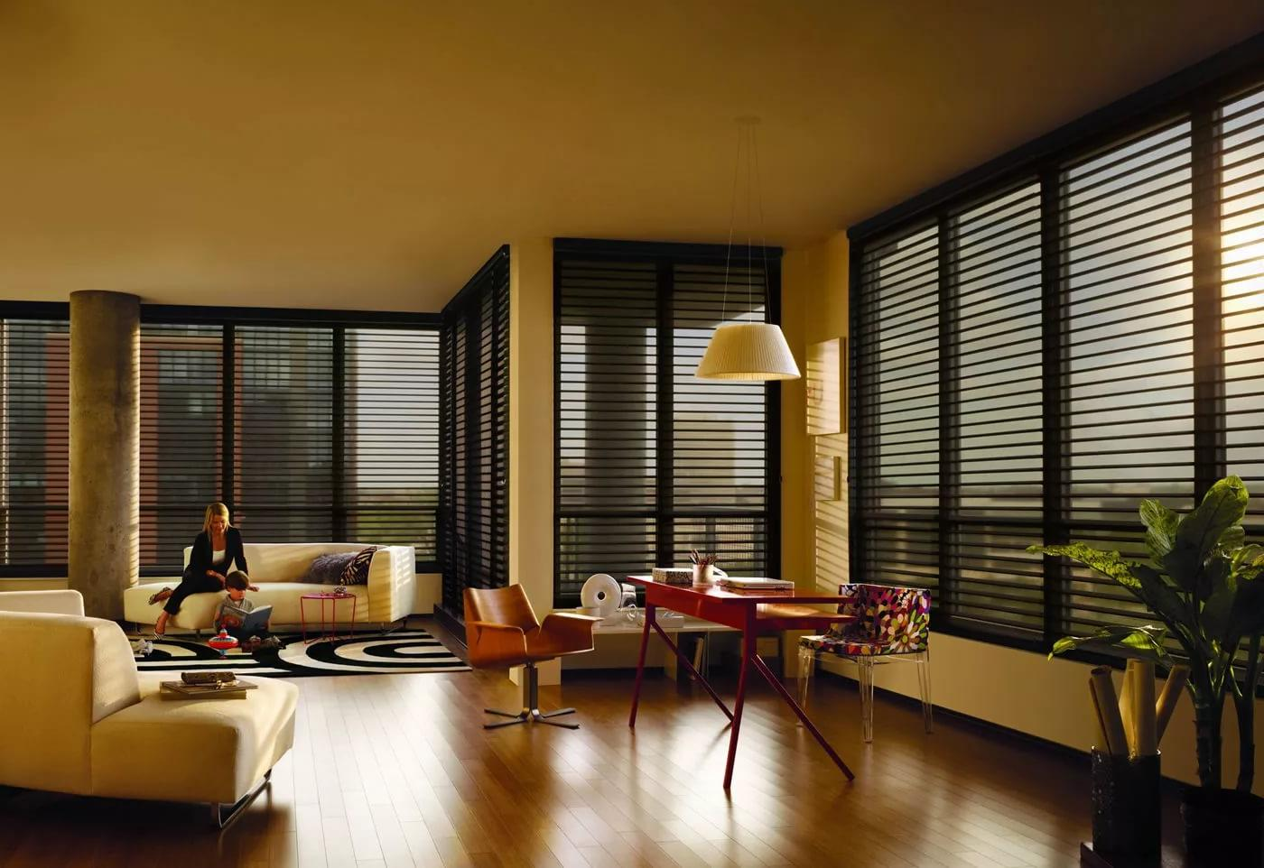 large wooden blinds