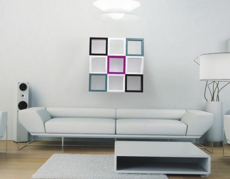 modern white wall shelving