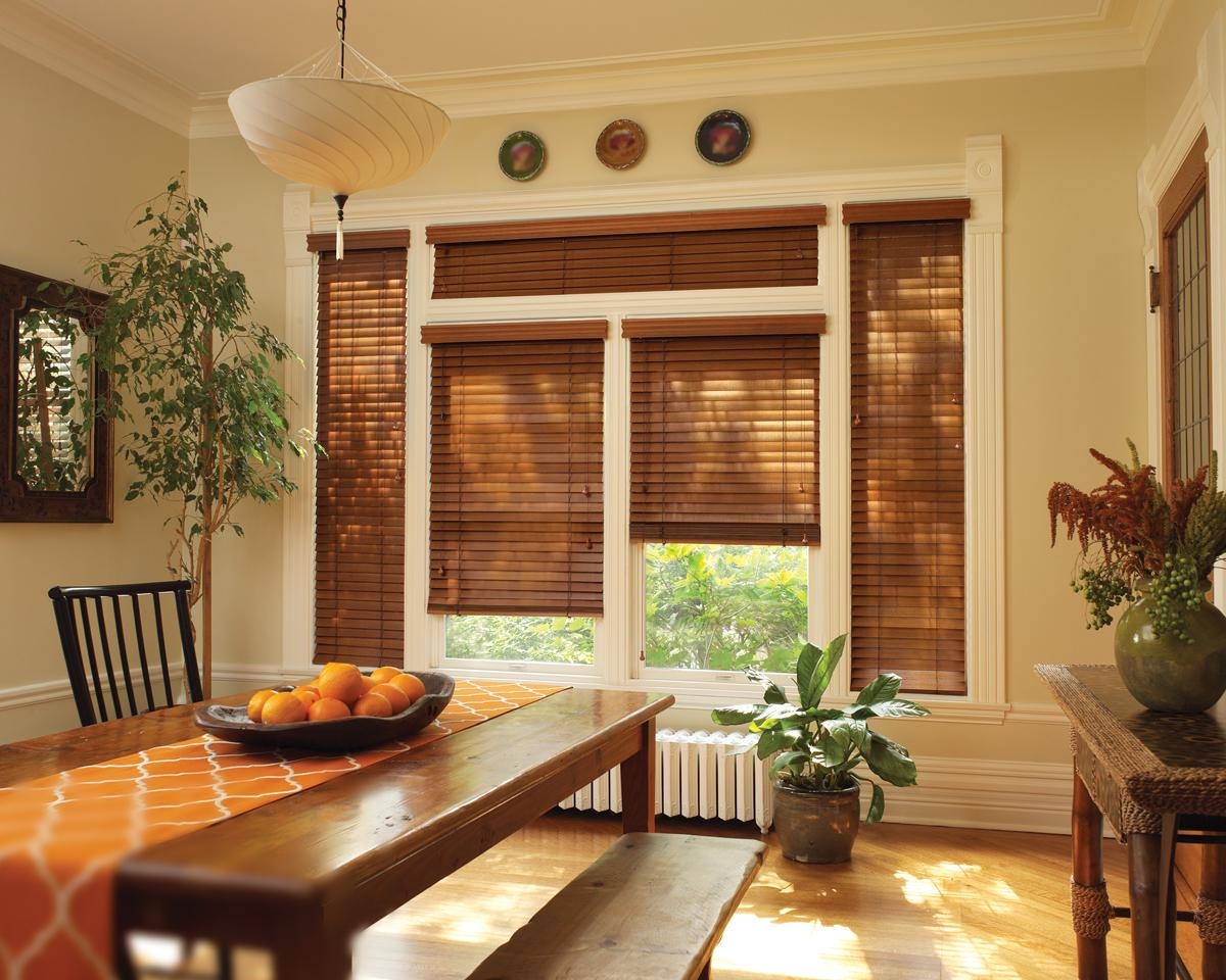 natural wooden blinds