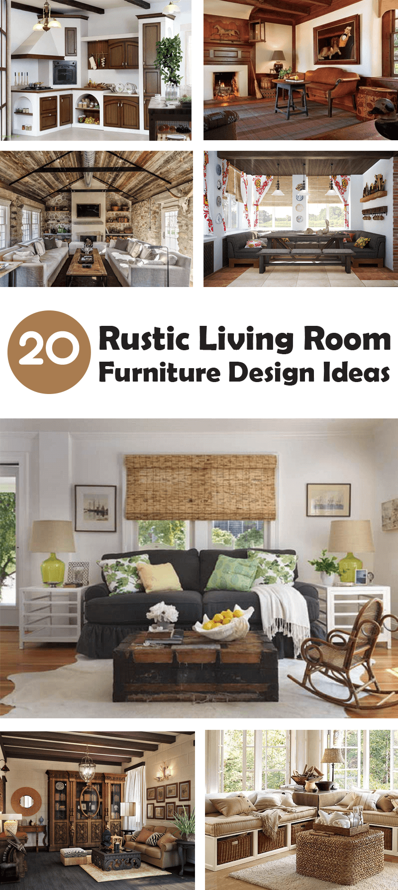 rustic living room furniture design ideas