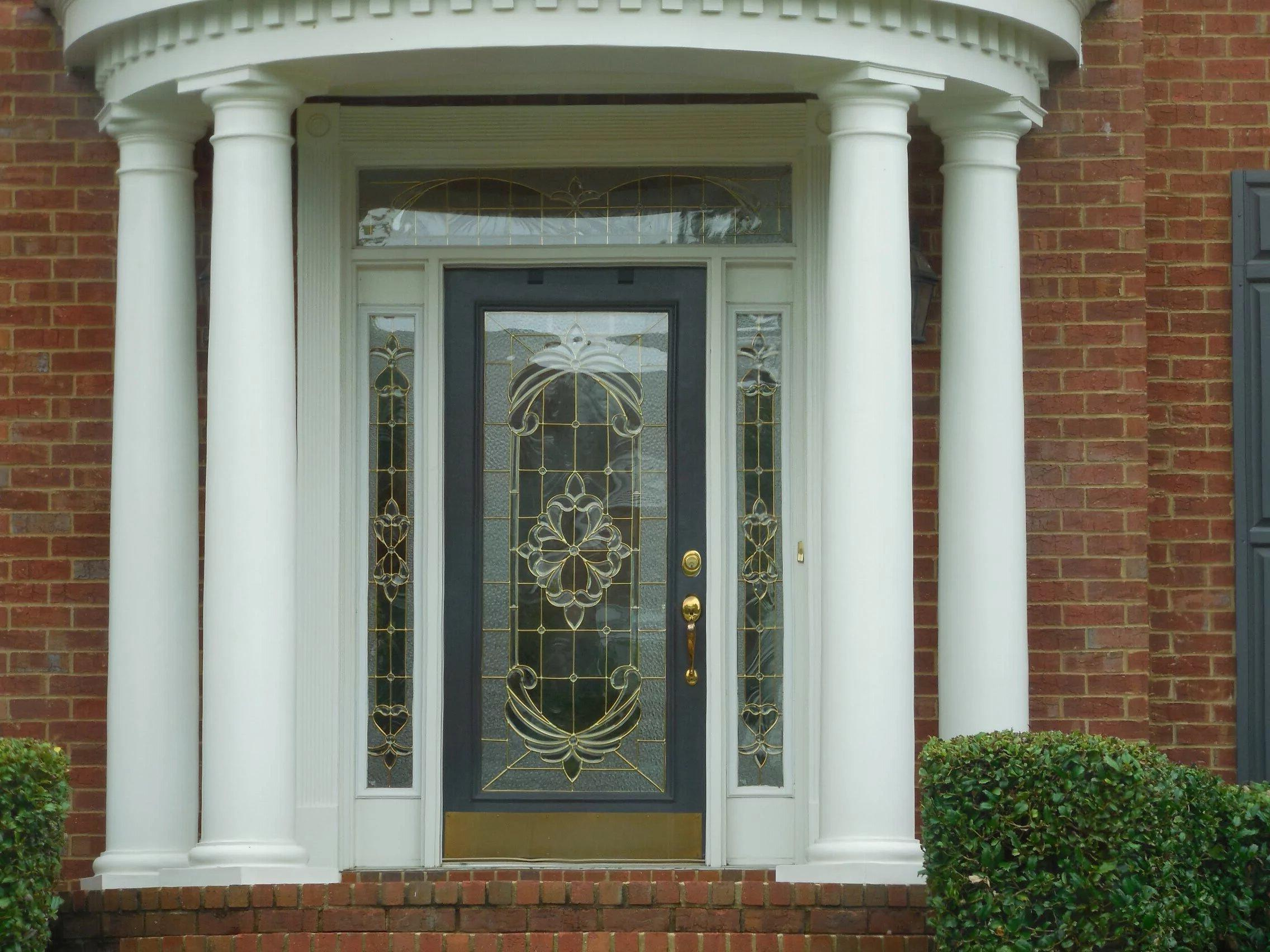 stained glass front door decor