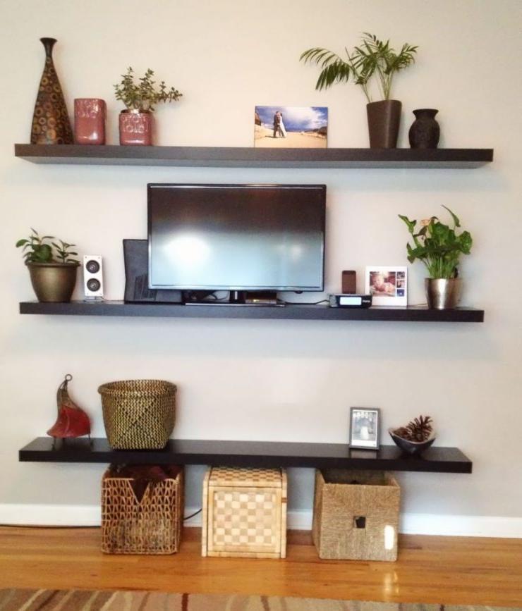 tv-wall shelf ideas