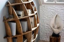 unique shape wall shelving decor