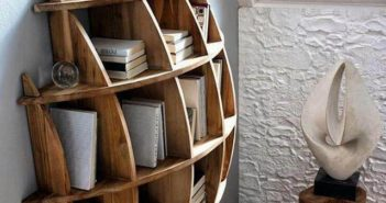 unique shape wall shelving decor