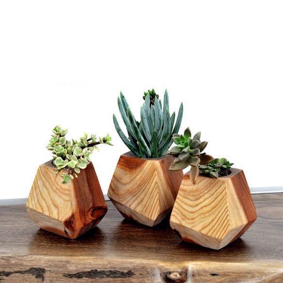 unique wooden plant stands