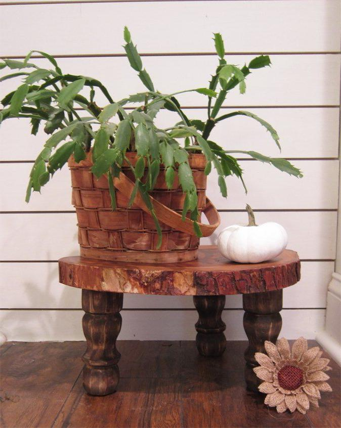 vintage style wooden plant stands