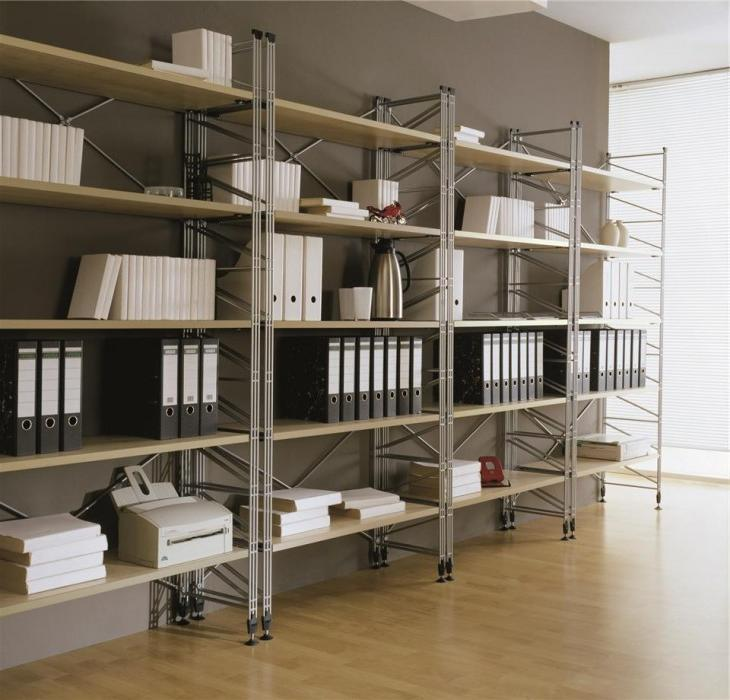wall shelving ideas for files
