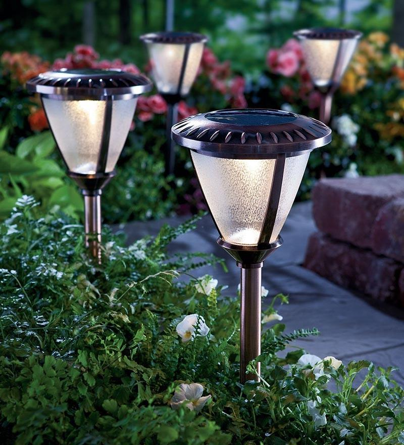 wireless lamps for garden pathway