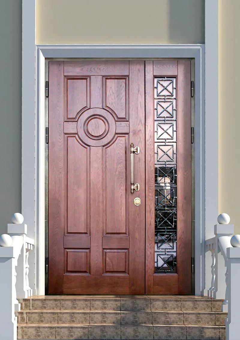 wooden entrance door decor