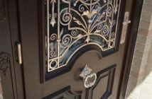 wrought iron front door decor