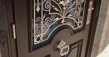 wrought iron front door decor