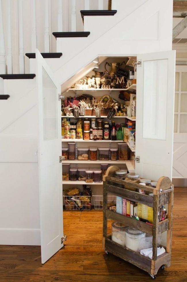 Closet located under the stairs