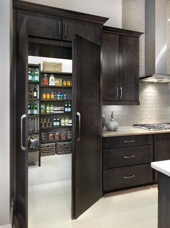 Most practical to arrange a pantry near the kitchen