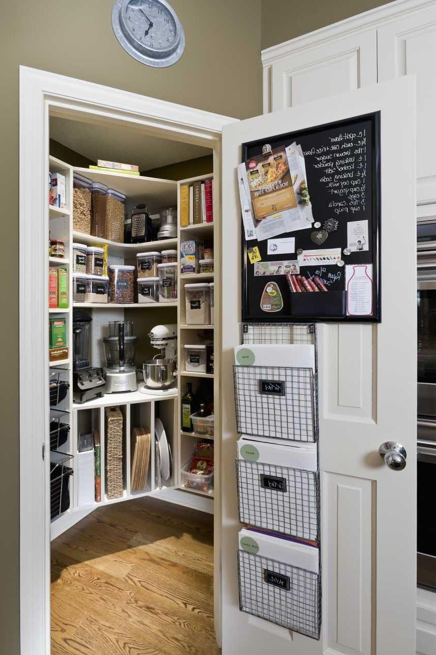 Pantry design in the apartment