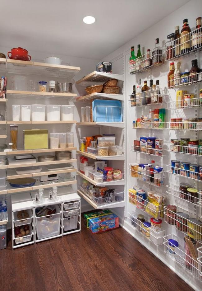 Some basements allow you to build a pantry room in them