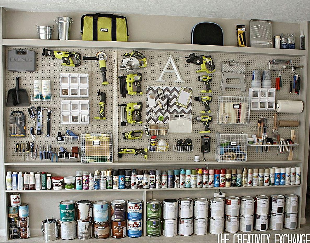 diy garage pegboard ideas