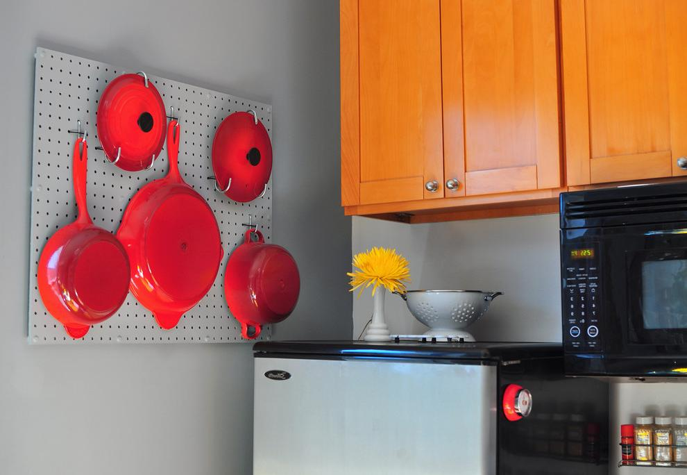 diy pegboard kitchen organizer