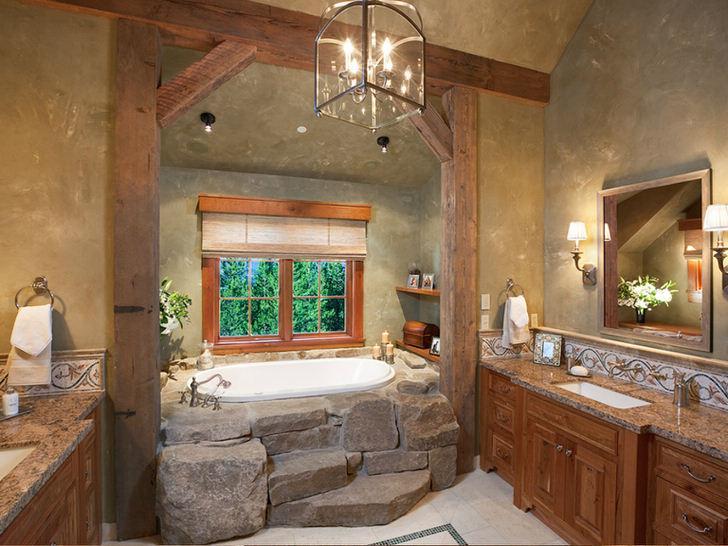 farmhouse rustic bathroom vanity