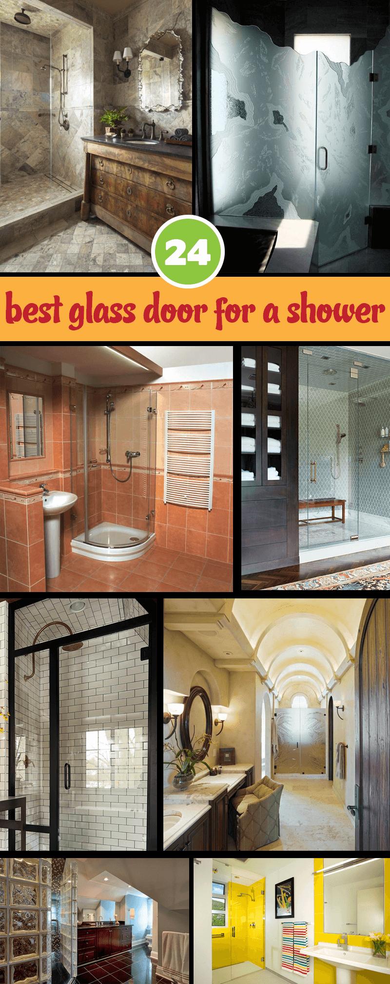glass door for a shower