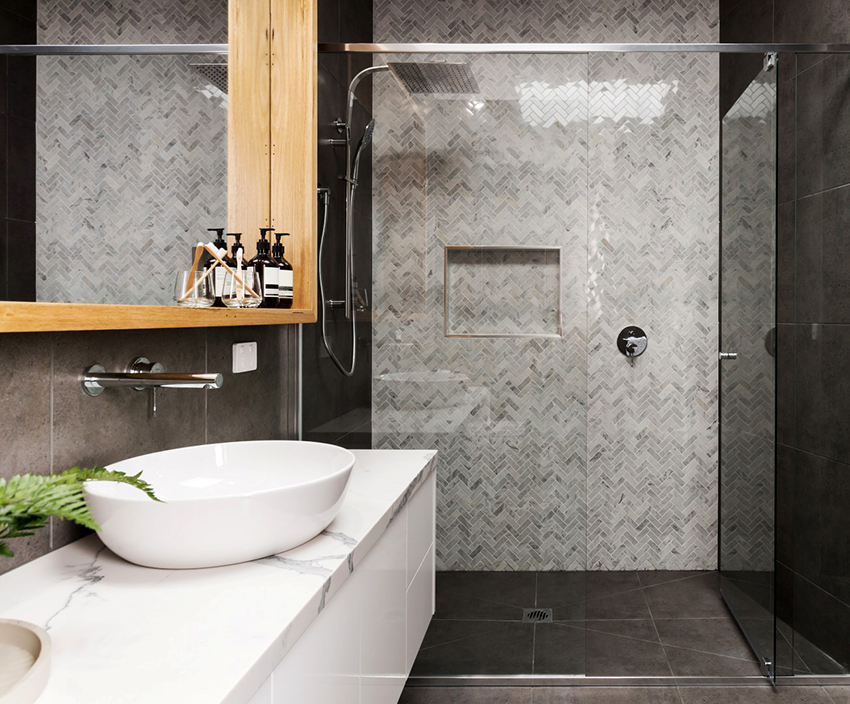 glass door for small shower