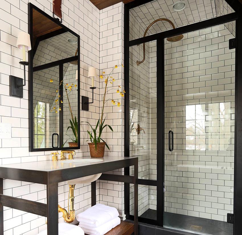 glass door or shower curtain