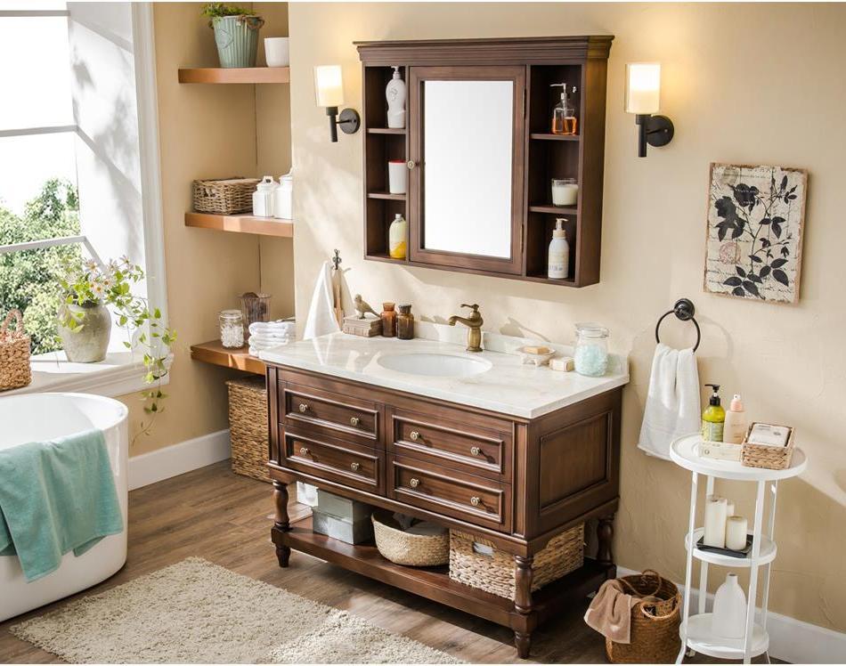 industrial rustic bathroom vanity with sink cabinets