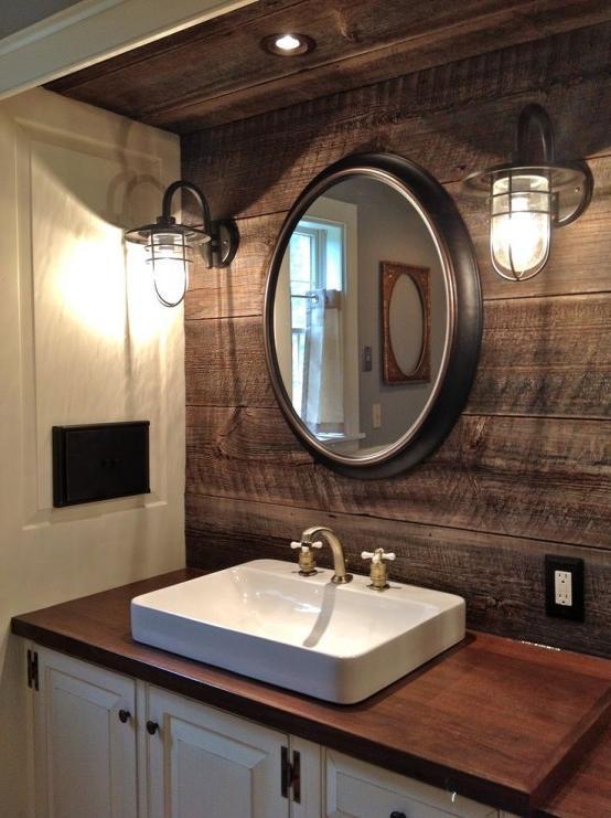 inexpensive rustic bathroom vanity