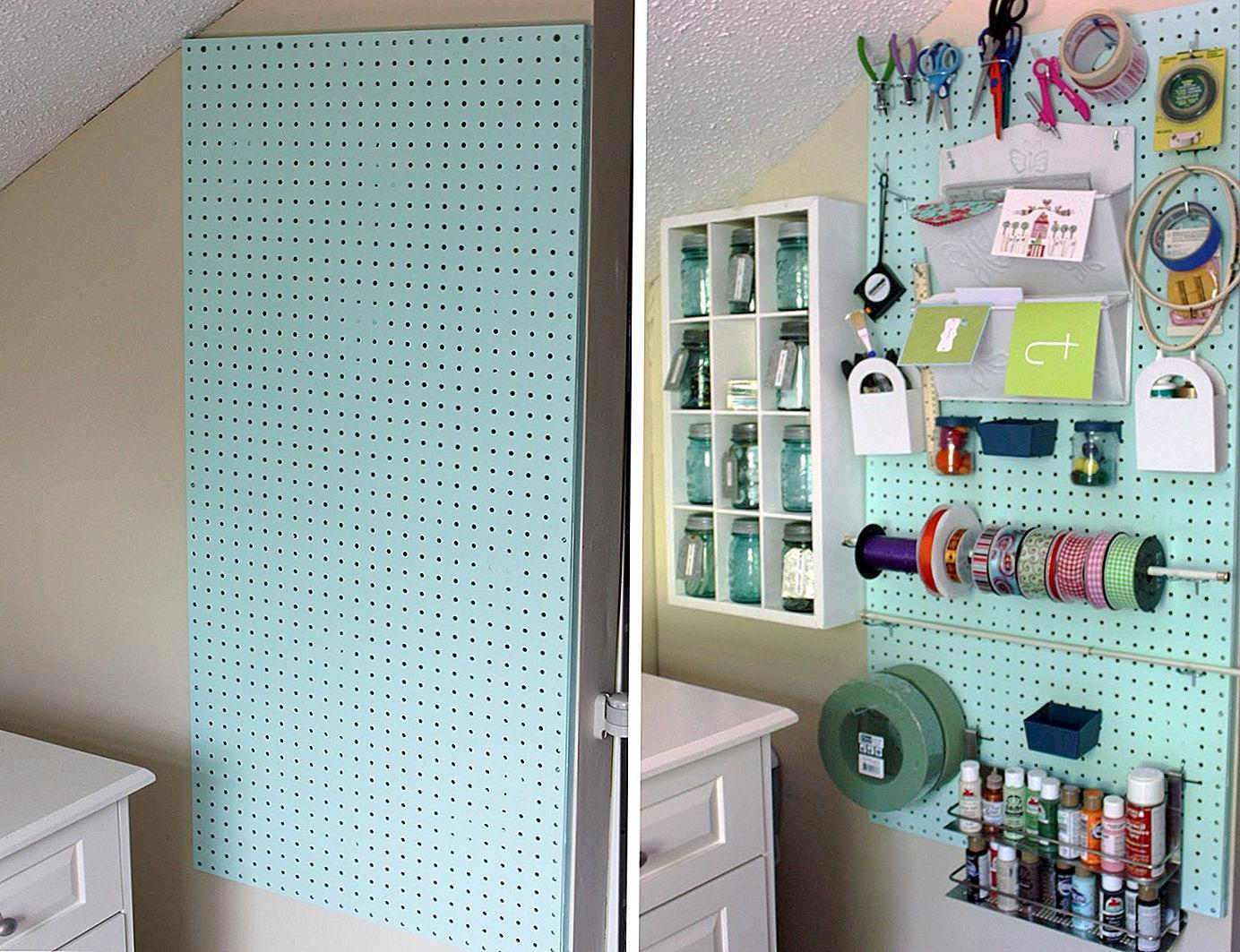 painted pegboard ideas