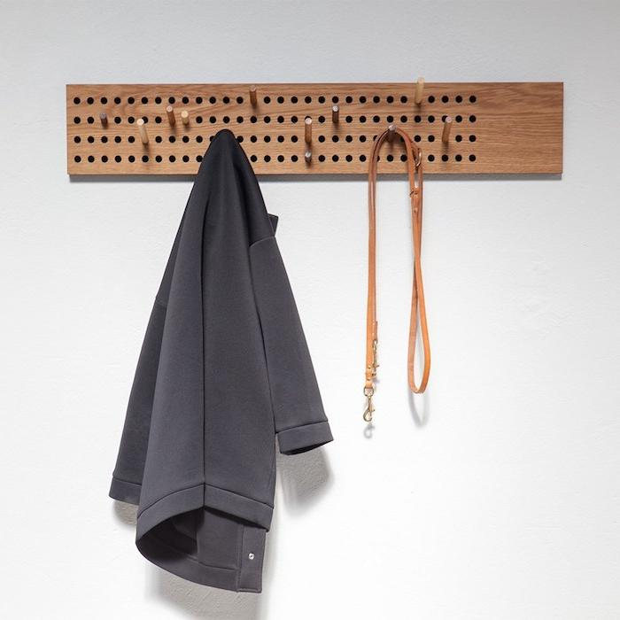 pegboard coat hanging ideas