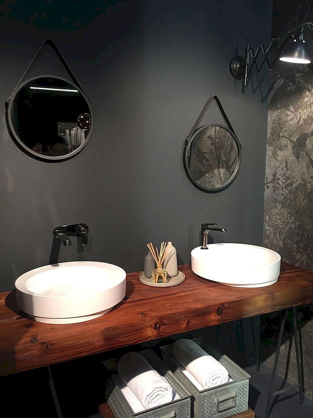 rustic chic bathroom vanity