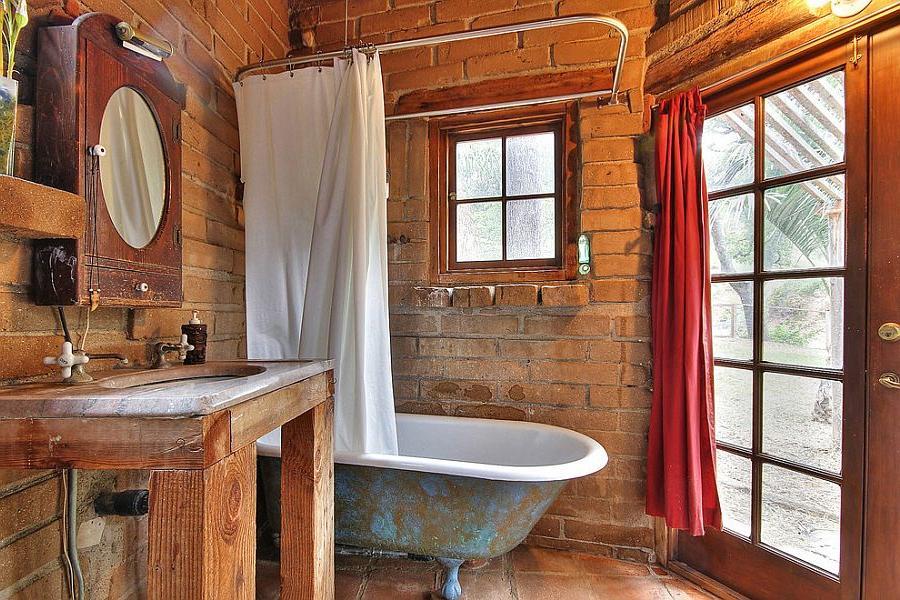 rustic oak bathroom vanity