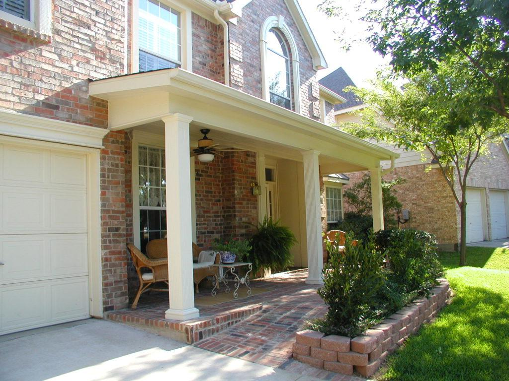 small brick front porch ideas
