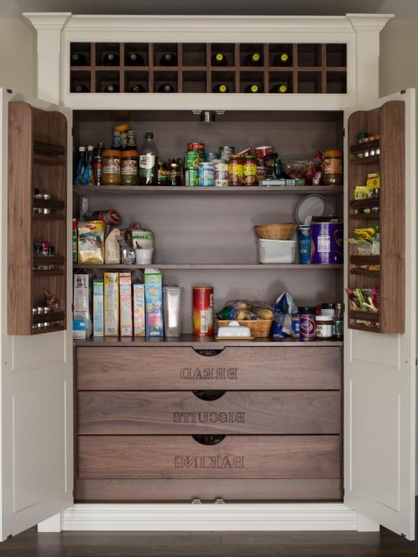 storage ideas inside wine rack