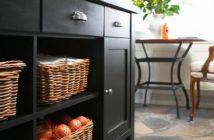 unique kitchen open shelving