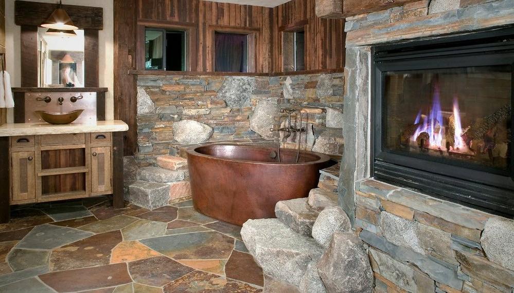 vintage rustic bathroom vanity