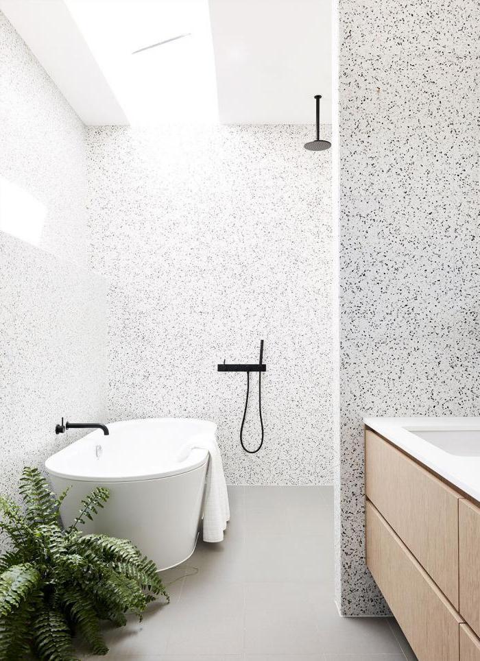white farmhouse bathroom vanity