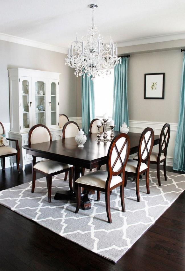Bright dining room in classic style
